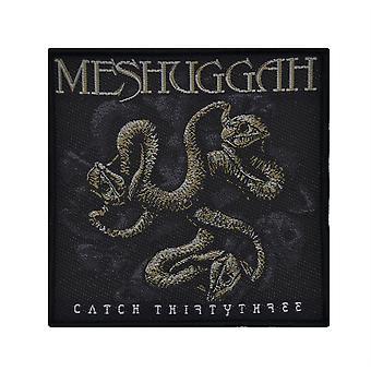 Meshuggah Catch Thirty Three Woven Patch