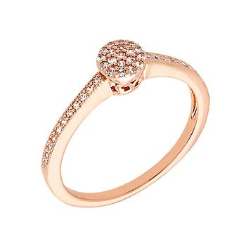 Bertha Sophia Collection Women's 18k RG Plated Stackable Pave Fashion Ring Size 8