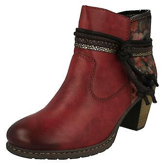 Las señoras Rieker lana forrado tobillo botas Z1580