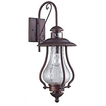 Maytoni Lighting La Rambla Outdoor Glass Brown Wall Mounted Downlight Lantern