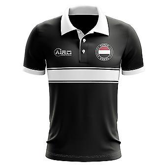 Koszulka Polo pasek koncepcja Jemen (czarny)