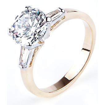 محفورة مع & أقتبس أحبك & اقتباس ؛ -- آه! مجوهرات 24K الذهب Electroplated الماس محاكاة