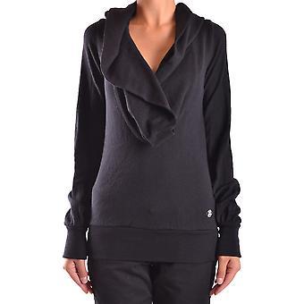 Frankie Morello Ezbc167057 Women's Black Cotton Sweater