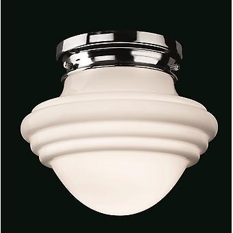 Firstlight-1 luz de lavado ligero cromo, ópalo vidrio blanco-4944CH