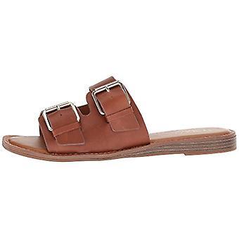Franco Sarto Womens Godiva Leather Open Toe Casual Slide Sandals