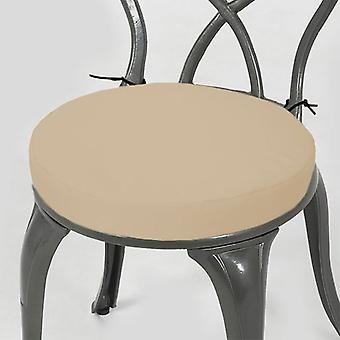 """Gardenista® Stone Water Resistant 15"""" Round Bistro Chair Seat Pad, Pack of 6"""