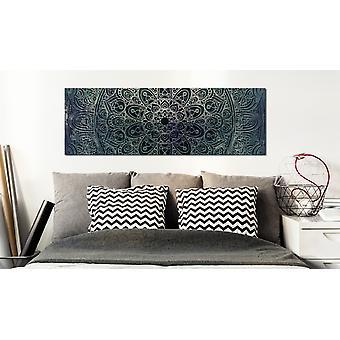 Painting - Mandala: Malachite Calm150x50