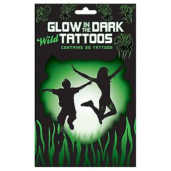Glow In The Dark Wild Animal Tattoos