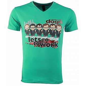 T-shirt-Reservoir Dogs Print-Green