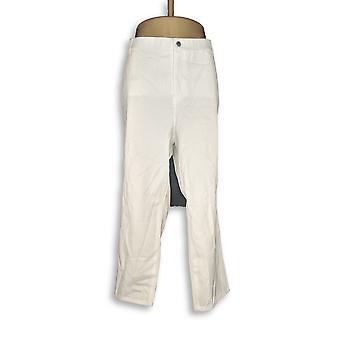 H di Halston Women's Petite Pants Studio Stretch 5-Pocket White A289583