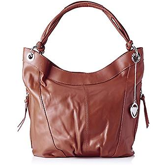 Chicca Bags Cbc3320tar Brown Women's Shoulder Bag 16x34x42cm (W x H x L)