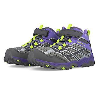 Merrell Moab FST mid A/C impermeável Júnior andando sapatos