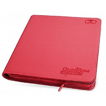 Ultimate Guards-QuadRow Zipfolio-480 Cards-RED