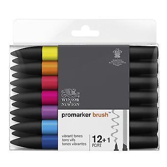 Winsor & Newton Promarker Brush 12 + 1 eloisat sävyt