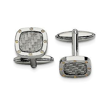Stainless Steel Geel IP verguld gepolijst en koolstofvezel met IPG Manchet banden sieraden geschenken voor mannen