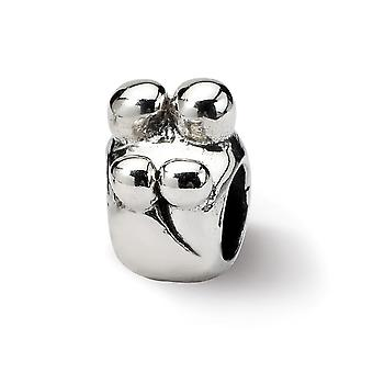 925 Sterling Silver Vintage viimeistely Reflections SimStars perhe 4 Helmi Charm riipus kaulakoru korut lahjat naisille