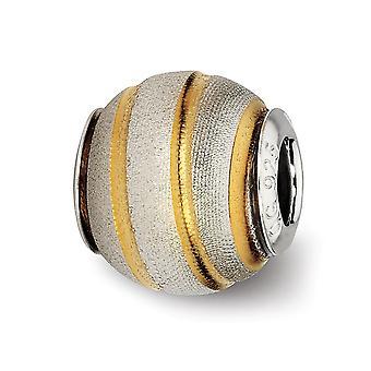 925 Sterling Silber poliert Laser geschnitten Reflexionen 14 k vergoldet Laser geschnitten Perle Anhänger Anhänger Halskette Schmuck Geschenke f