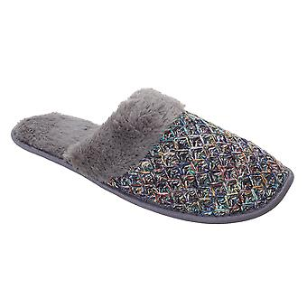 Slumberzzz Womens/Ladies Textured Knitted Mule Slippers