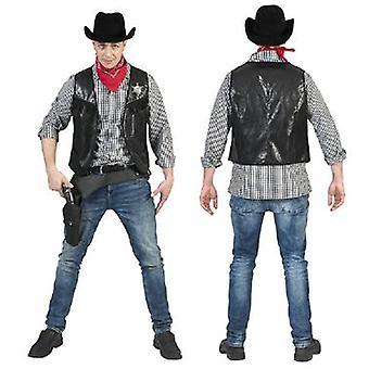 Cowboy väst Ryder mäns kostym Wild West Sheriff mäns kostym