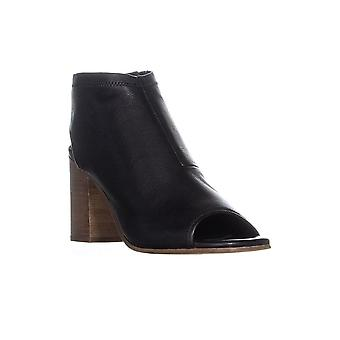 Steven by Steve Madden Womens Stesha Leather Peep Toe Ankle Fashion Boots
