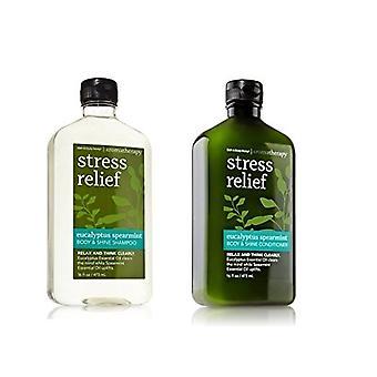 Bath & Body Works Eucalyptus Spearmint Body & Shine Zestaw szamponów i odżywki (opakowanie 2)