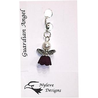 Handmade Clip-on Angel/Fairy Charm White by Nyleve Designs