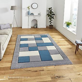 Sutu Grau blau Teppich