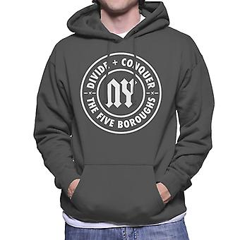 Divide & Conquer NY The Five Boroughs Men's Hooded Sweatshirt