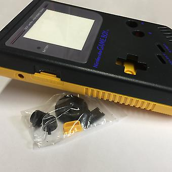 Two tone replacement housing shell case mod kit for nintendo game boy dmg-01 - black & yellow