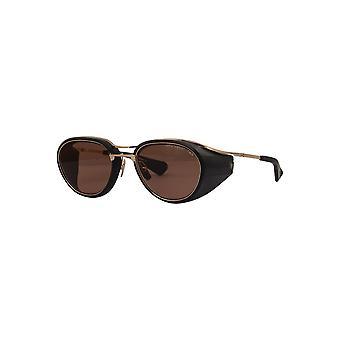 Dita Nacht-Two DTS128 01 Matte Black-White Gold/Dark Brown Sunglasses