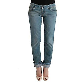 Blue Denim Cotton Bottoms Slim Fit Jeans -- SIG3520752