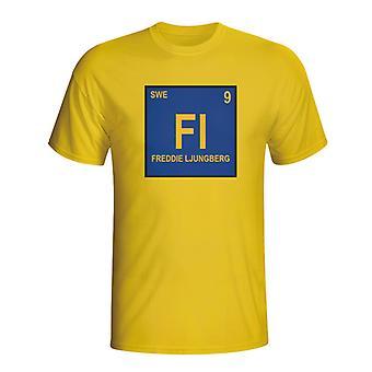 Freddie Ljungberg Sverige periodiske T-shirt (gul)