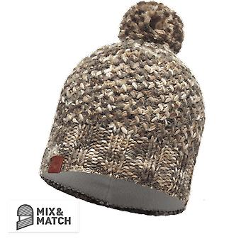 Buff Margo Knitted Hat Brown Taupe