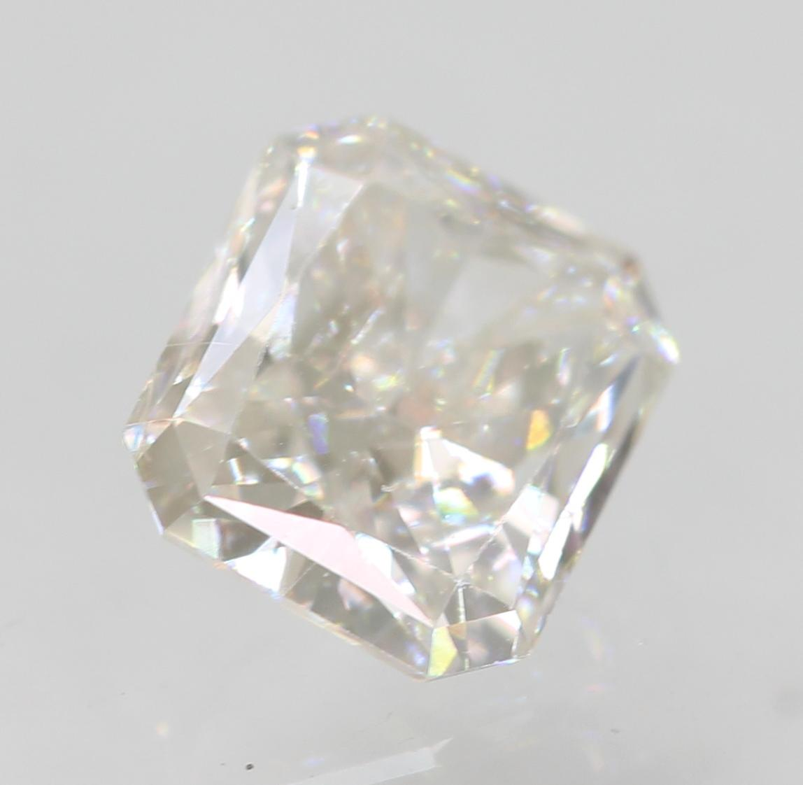 Certified 0.44 Carat E VVS2 Radiant Enhanced Natural Loose Diamond 4.88x4.16mm