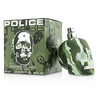 Policję za kamuflaż Eau de Toilette 75ml EDT Spray