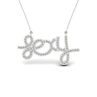 Igi certified sterling silver 0.2ct tw diamond sexy necklace