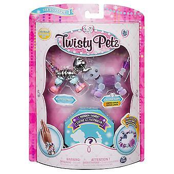 PetzCollectible Twisty éblouissants Bracelets, 3 Pack animaux assortis