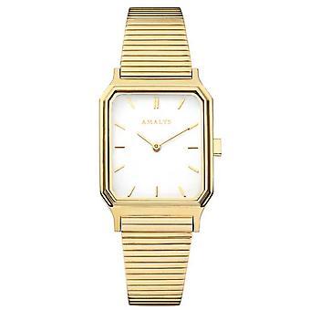 Oglądaj Amalys ANGELE - Steel Box Dor Steel Bracelet Dor Cadran Gold Kobiety