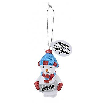 History & Heraldry Festive Friends Hanging Tree Decoration - Lewis