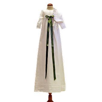 Dopklänning Och Dophätta, Ljus Grön Bred Rosett. Grace Of Sweden