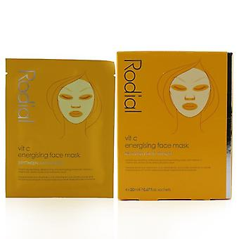 Rodial Vit C Energising Face Mask - 4x20ml/0.67oz