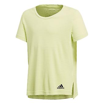 Adidas Girls Training Climachill Tee Yellow