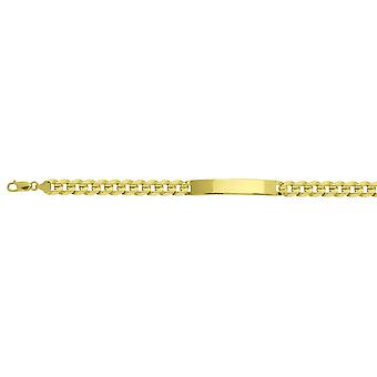 14k Yellow Gold Mens ID Bracelet 8.50 Inch Jewelry Gifts for Men - 27.7 Grams