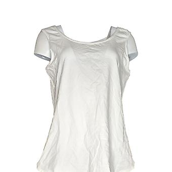 Women with Control Women's Top Wicked Shirttail Hem Tank White A306465