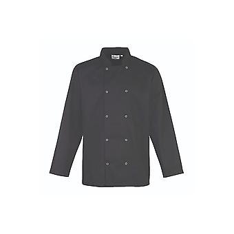 Premier tachonado delantero de manga larga chef's chaqueta pr665