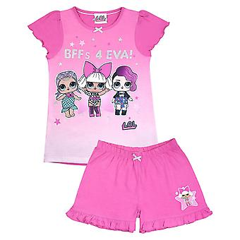 LOL Surprise! Fierce Girls Short Pink Pyjamas