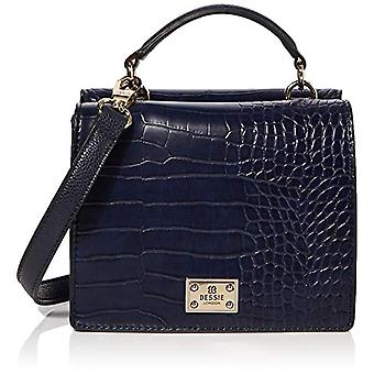 BESSIE LONDONTop Handle Croc Flap TopWomenBlue (Navy)11x14x19 Centimeters (W x H x L)