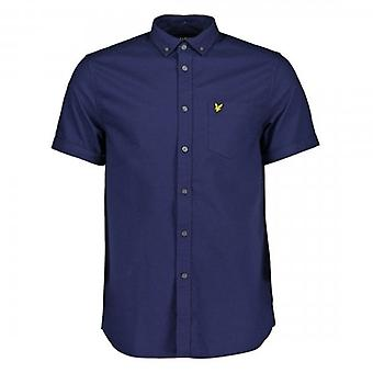Lyle & Scott Navy Oxford Short Sleeve Shirt SW1208V