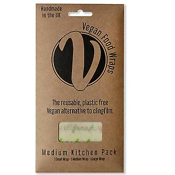 Vegan Wraps Medium Kitchen Pack van 3, Lente Kleuren