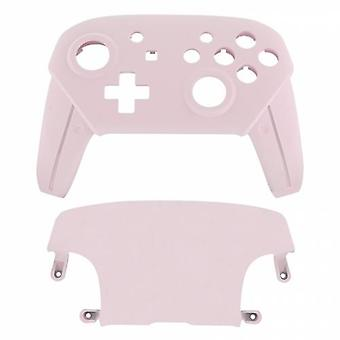 Replacement housing shell for nintendo switch pro controllers front & back cover hard soft touch - light pink | zedlabz